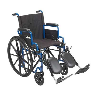 Standard Wheelchair with Leg Raisers